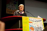 08 JAN 2011, BERLIN/GERMANY:<br /> Gesine Loetzsch, Die Linke Parteivorsitzende, haelt eine Rede, 16. Internationale Rosa-Luxenburg-Konferenz, Urania Haus<br /> IMAGE: 20110108-01-016<br /> KEYWORDS: Kommunismus, Gesine Lötzsch
