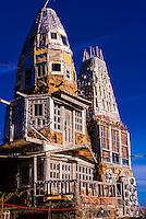 "A ""castle"" (El Castillo) built single-handedly by local man Cano Espinoza, Antonito, Colorado USA. Cano says his main influences for the Castle are ""Vitamin Mary Jane"" and Jesus."