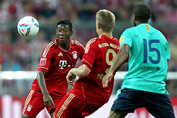 27.07.2011, Allianz Arena, Muenchen, GER, Audi Cup 2011, Finale,  FC Barcelona vs FC Bayern , im Bild David Alaba (Bayern #27) Nils Petersen (Bayern) und +m15+  // during the Audi Cup 2011,  FC Barcelona vs FC Bayern  , on 2011/07/27, Allianz Arena, Munich, Germany, EXPA Pictures © 2011, PhotoCredit: EXPA/ nph/  Straubmeier       ****** out of GER / CRO  / BEL ******