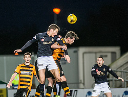 Falkirk's Aaron Muirhead and Falkirk's Craig Sibbald. <br /> Falkirk 5 v 0 Alloa Athletic, Scottish Championship game played at The Falkirk Stadium. © Ross Schofield