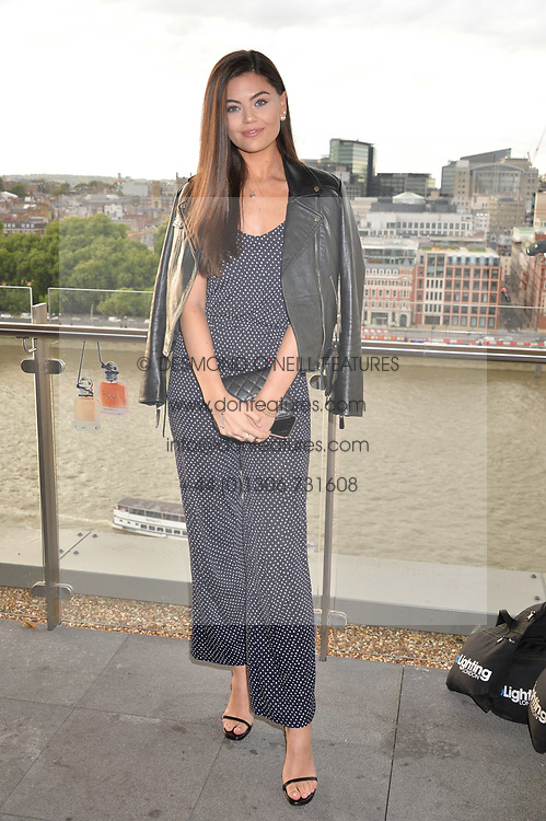 Emily Canham at the Emporio Armani YOU fragrance launch at Sea Containers, 18 Upper Ground, London England. 20 July 2017.<br /> Photo by Dominic O'Neill/SilverHub 0203 174 1069 sales@silverhubmedia.com