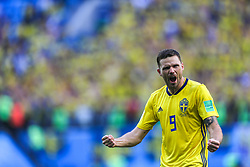 July 3, 2018 - Saint Petersburg, Russia - Marcus Berg of the Sweden national football team celebrates after the 2018 FIFA World Cup match, Round of 16 between Sweden and Switzerland at Saint Petersburg Stadium on July 03, 2018 in St. Petersburg, Russia. (Credit Image: © Igor Russak/NurPhoto via ZUMA Press)