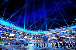 11.07.2010, Soccer-City-Stadion, Johannesburg, RSA, FIFA WM 2010, Finale, Niederlande (NED) vs Spanien (ESP) im Bild Übersicht über das Stadion bei der Schlusszeremonie, Feuerwerk, Lichtstimmung, EXPA Pictures © 2010, PhotoCredit: EXPA/ InsideFoto/ Perottino *** ATTENTION *** FOR AUSTRIA AND SLOVENIA USE ONLY! / SPORTIDA PHOTO AGENCY