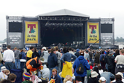 The main stage, T in the Park Sunday Sunday 14 July 2002..Pic: © Michael Schofield..