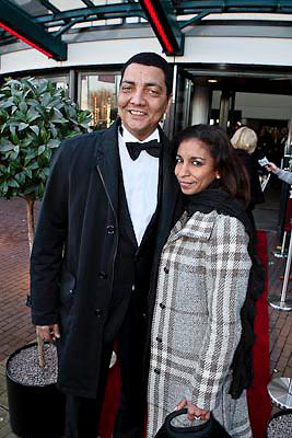 NLD/Zaandam/20081207 - Premiere Op Hoop van Zegen, Jórgen Raymann en partner Sheila Mannen