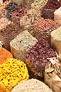 Spices at the Spice Souk in Deira, Dubai, United Arab Emirates