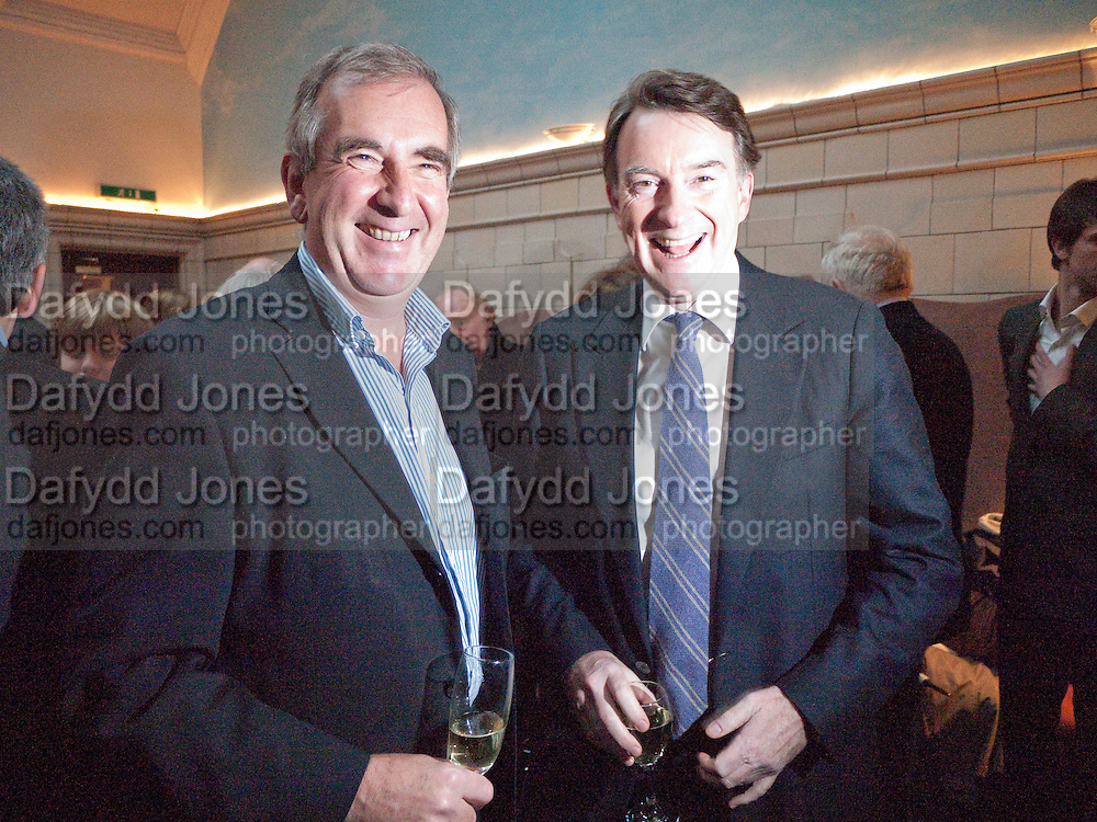 ROBERT HARRIS; LORD MANDELSON, Special preview screening of the Ghost. Introduced by the book's author Robert Harris. The Courthouse Hotel Great Marlborough St. London. 30 March 2010.