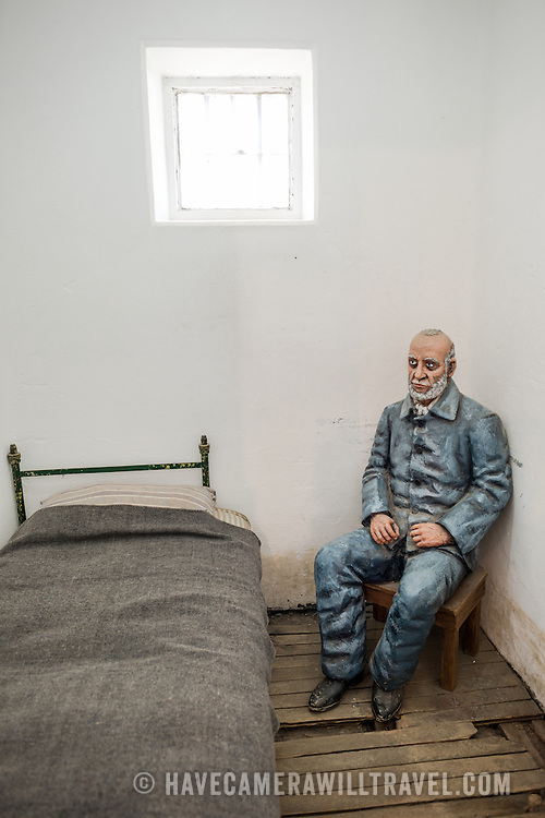 A model of a prisoner demonstrating conditions at the Police and Penitentiary Museum that forms one part of the Maritime Museum of Ushuaia.