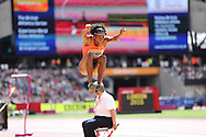 Lorraine Ugen of Great Britain during the Sainsbury's Anniversary Games at the Queen Elizabeth II Olympic Park, London, United Kingdom on 25 July 2015. Photo by Phil Duncan.