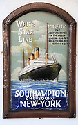 Old poster for White Star Line ship Majestic, Cobh, County Cork, Ireland, Irish Republic