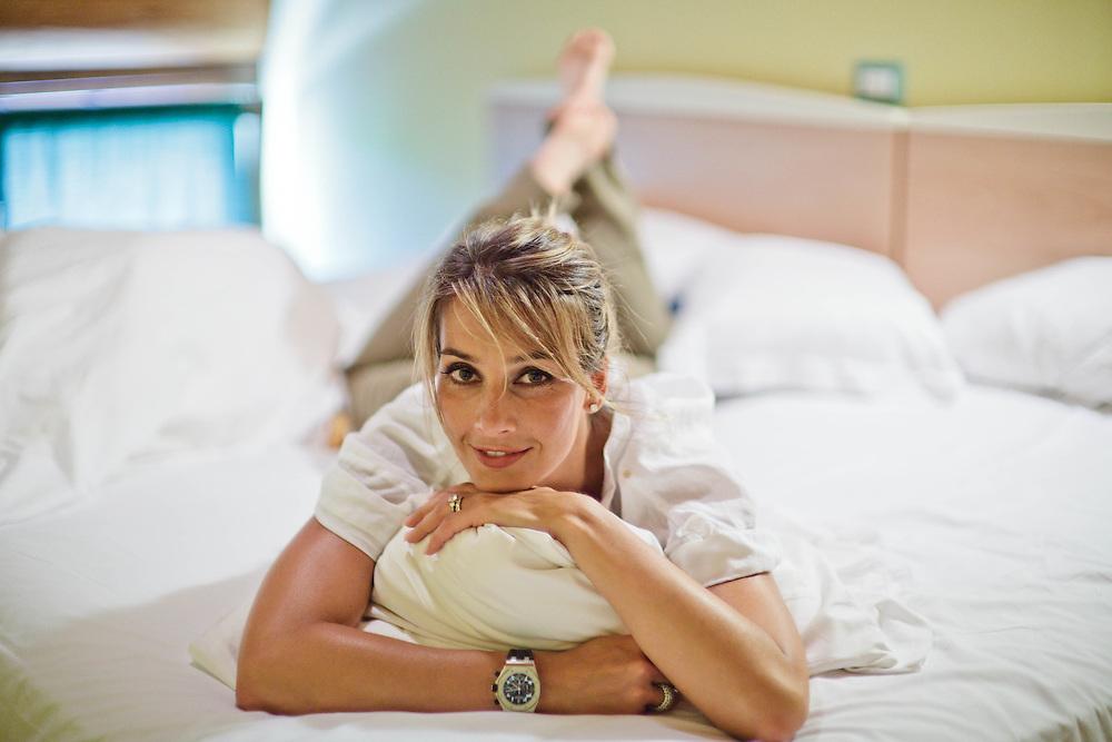 08 JUL 2011 - Lonato (Brescia) - Rózsa Tassi (ex Miss Ungheria, ex attrice porno con lo pseudonimo di Rosa Caracciolo), moglie di Rocco Tano (in arte Rocco Siffredi)