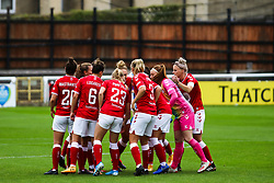 Bristol City Women  prior to kick off- Mandatory by-line: Will Cooper/JMP - 18/10/2020 - FOOTBALL - Twerton Park - Bath, England - Bristol City Women v Birmingham City Women - Barclays FA Women's Super League