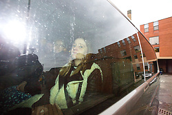 © Licensed to London News Pictures. 16/02/2017. Leeds UK. Katie Rough's mother Alison Rough leaves Leeds Crown Court this morning after a 15 year old girl pleaded not guilty to the murder of 7 year old Katie Rough. A 15 year old girl has appeared at Leeds Crown Court this morning charged with the murder of 7 year old Katie Rough who was found seriously injured on a playing field in the Woodthorpe area of York on January 9th, she was taken to hospital but died later that evening. Photo credit: Andrew McCaren/LNP