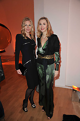 Left to right, PRISCILLA WATERS and ALLEGRA HICKS at the TOD'S Art Plus Drama Party at the Whitechapel Gallery, London on 24th March 2011.