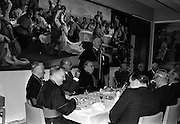 10/07/1967<br /> 07/19/1967<br /> 19 July 1967<br /> Cardinal John Cody of Chicago with American pilgrims in Drogheda. Cardinal Cody led 350 pilgrims to the shrine of Blessed Oliver Plunkett in Drogheda. There in the Cathedral he and His Eminence Cardinal William Conway Archbishop of Armagh and Primate of All Ireland consecrated Mass. After mass the Cardinals and pilgrims went to the Medical Missionaries of Mary Hospital for lunch. Image shows Cardinal Conway speaking at the lunch, which was attended by Minister for External Affairs Mr. Frank Aiken TD.