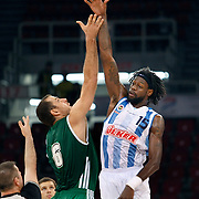Panathinaikos's Aleksandar MARIC (L) during their Two Nations Cup basketball match Fenerbahce Ulker between Panathinaikos at Abdi Ipekci Arena in Istanbul Turkey on Sunday 02 October 2011. Photo by TURKPIX