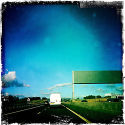 Motorway..Hipstamatic images taken on an Apple iPhone..©Michael Schofield.