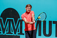 David Goffin of Belgium in action during the Mutua Madrid Open 2018, tennis match on May 10, 2018 played at Caja Magica in Madrid, Spain - Photo Oscar J Barroso / SpainProSportsImages / DPPI / ProSportsImages / DPPI
