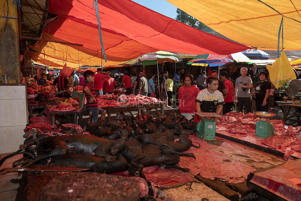 Tomohon extreme market, Minahasa, northern Sulawesi, Indonesia.