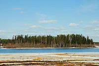 Arctic landscape in Luleå, Sweden