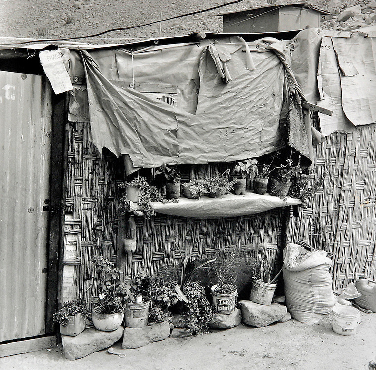 Poor house in the town of Chosica, in the city of Lima, Peru.