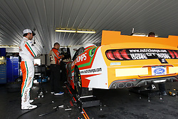 June 1, 2018 - Long Pond, Pennsylvania, United States of America - Chase Briscoe (60) hangs out in the garage prior to practice for the Pocono Green 250 at Pocono Raceway in Long Pond, Pennsylvania. (Credit Image: © Justin R. Noe Asp Inc/ASP via ZUMA Wire)