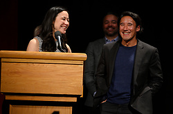 """Elizabeth Chai Vasarhelyi, Jimmy Chin, Evan Hayes and Shannon Dill of the Oscar® nominated documentary feature """"Free Solo"""" during the Academy of Motion Picture Arts and Sciences' """"Oscar Week: Documentaries"""" event on Tuesday, February 19, 2019 at the Samuel Goldwyn Theater in Beverly Hills. The Oscars® will be presented on Sunday, February 24, 2019, at the Dolby Theatre® in Hollywood, CA and televised live by the ABC Television Network."""