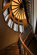 Interior space shot of a staircase by Springfield, MIssouri photographer Brandon Alms.