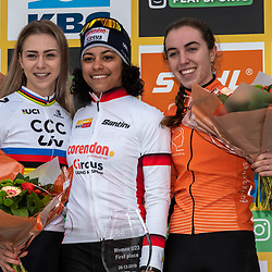 26-12-2019: Cycling: CX Worldcup: Heusden-Zolder: Ceylin Alvarado wins the race in the women U23 category ahead of world champion inge van der Heijden and Shirin van Aanrooij