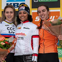 26-12-2019: Cycling: CX Worldcup: Heusden-Zolder: Ceylin Alvarado wins the race in the women U23 category ahead of world champion inge van der Heijden and Shirin van Aanrooij
