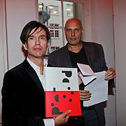 NLD/Amsterdam/20101014 -Opening tentoonstelling Piet Paris en presentatie postzegel in Amsterdam,