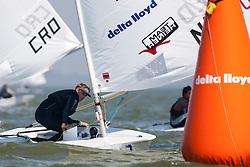 Laser. Medemblik - the Netherlands, May 22nd 2012. Delta Lloyd Regatta in Medemblik (22/26 May 2012). Day 1.