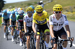 July 16, 2017 - Puy En Velay, France - Le Puy-en-Velay, France - July 16 : FROOME Christopher of Team Sky during stage 15 of the 104th edition of the 2017 Tour de France cycling race, a stage of 189.5 kms between Laissac-Severac l'Eglise and Le Puy-en-Velay on July 16, 2017 in Le Puy-en-Velay, France, 16/07/2017 (Credit Image: © Panoramic via ZUMA Press)
