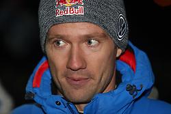 12.02.2015, Karlstad, Karlstad, SWE, FIA, WRC, Schweden Rallye, im Bild Sebastien Ogier (Volkswagen Motorsport/Polo R WRC) // during the WRC Sweden Rallye at the Karlstad in Karlstad, Sweden on 2015/02/12. EXPA Pictures © 2015, PhotoCredit: EXPA/ Eibner-Pressefoto/ Bermel<br /> <br /> *****ATTENTION - OUT of GER*****