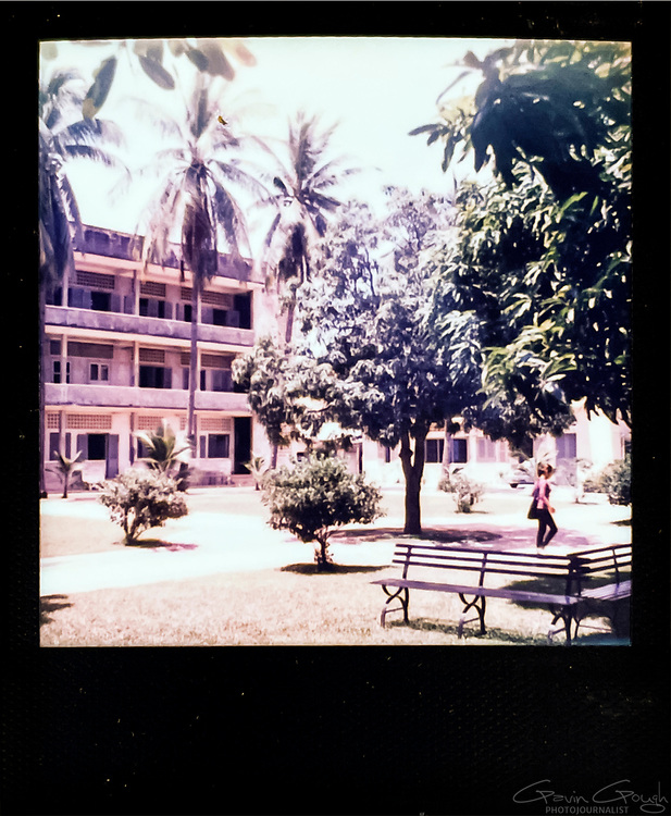 Main courtyard, Tuol Sleng S-21 Genocide Museum, Cambodia
