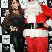 Hard Rock Cafe London, England, UK. 4th Dec 2017. Lizzy Cundy and Santa Arrivals at Fight For Life Charity Event of Christmas festivities and entertainment for children with cancer.