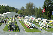 Lucerne, SWITZERLAND, GV's, General Views around the boat storage area, during the 2001World Rowing Championships,  [Credit, Peter Spurrier/Intersport-images] 20010819 FISA World Rowing Championships, Lucerne, SWITZERLAND