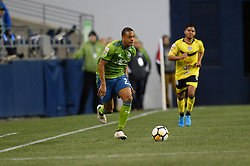 March 1, 2018 - Seattle, Washington, U.S - Soccer 2018: Seattle Sounder midfielder HENRY WINGO (23)  in action as Santa Tecla FC visits the Seattle Sounders for a CONCACAF match at Century Link Field in Seattle, WA. Seattle won the match 4-0. (Credit Image: © Jeff Halstead via ZUMA Wire)