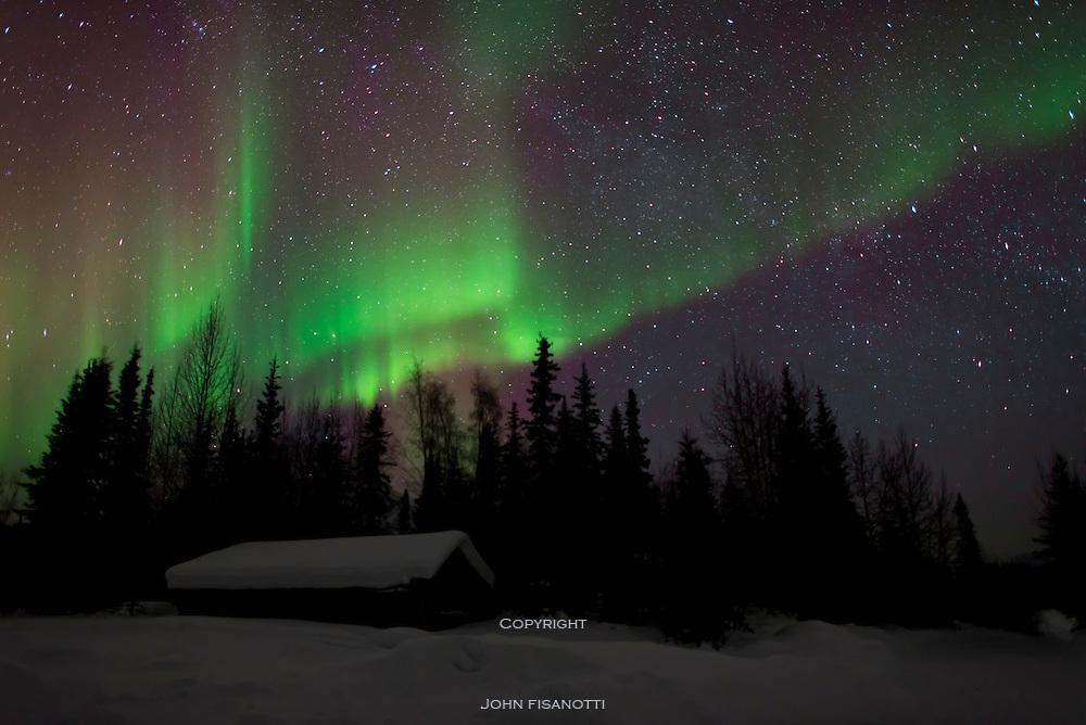 Aurora Borealis, Northern Lights from Wiseman, Alaska