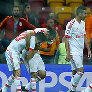 Galatasaray's and Benfica's during their UEFA Champions League Group Stage Group C soccer match Galatasaray between Benfica at the Ali Sami Yen Spor Kompleksi TT Arena in Istanbul, Turkey on Wednesday 21 October 2015. Photo by Aykut AKICI/TURKPIX