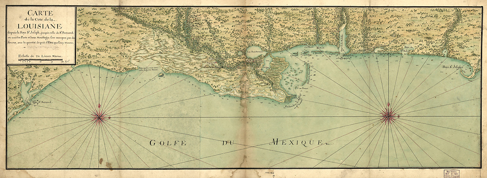 Vintage maps of Texas and Louisiana from 1582