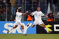 Roma 22/1/2004<br />ROMA MILAN 1-2 COPPA ITALIA<br />Alessandro Nesta celebrates his goal of 1-0 with Cristian Brocchi (Milan) <br />Foto Andrea Staccioli Graffiti