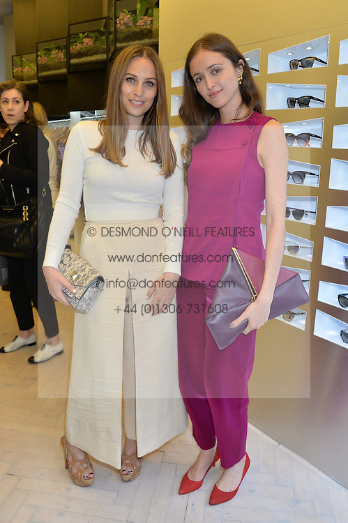 Left to right, ANNA LAUB founder of Prism and BARBARA CASASOLA at the Prism Boutique Summer Party held at Prism, 54 Chiltern Street, London on 14th May 2014.