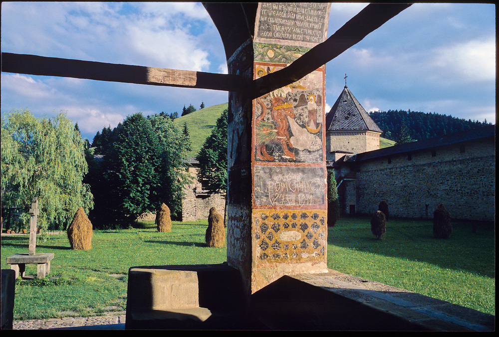 Sucevita Monastery, one of the several Painted Monasteries in Moldavia, Romania, built in the 1400's and now World Heritage sites. 1987
