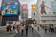 The Dotonbori district of Osaka is a popular tourist destination for both domestic and international tourism. The area is filled with restaurants, street food, nighlife, entertainment and shopping.