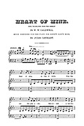 Heart of Mine - Sheet Music for the piano from Godey's Lady's Book and Magazine, August, 1864, Volume LXIX, (Volume 69), Philadelphia, Louis A. Godey, Sarah Josepha Hale,