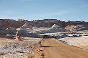 Road through Valley of the Moon, Atacama Desert. Chile, South America