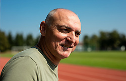 Portrait of Matija Sestak, a retired Slovenian sprinter who specialised in the 400 metres and is now an athletic coach, on October 1st, 2020 in ZAK, Ljubljana, Slovenia. Photo by Vid Ponikvar / Sportida