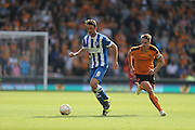 Brighton central midfielder, Dale Stephens in possession during the Sky Bet Championship match between Wolverhampton Wanderers and Brighton and Hove Albion at Molineux, Wolverhampton, England on 19 September 2015.