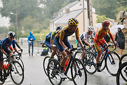 Emilia Fahlin (SWE) at the 2020 UEC Road European Championships - Elite Women Road Race, a 109.2 km road race in Plouay, France on August 27, 2020. Photo by Sean Robinson/velofocus.com